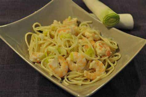 spaghetti aux crevettes et a la creme