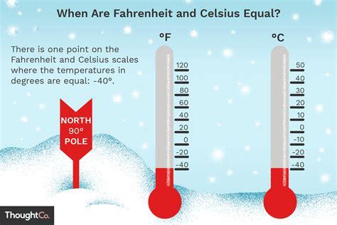 What Temperature Does Fahrenheit Equal Celsius?