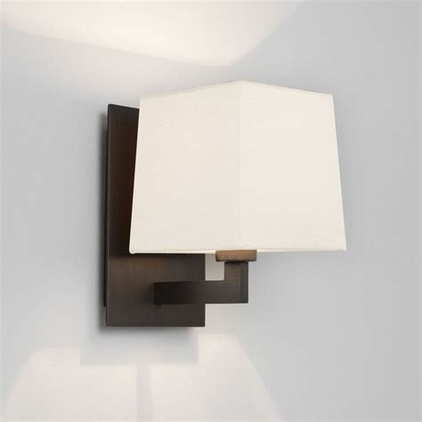 the olan wall light in bronze comes with a choice of shades which are sold separately astro