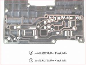 4r100 Check Ball Locations On Accumulator Plate