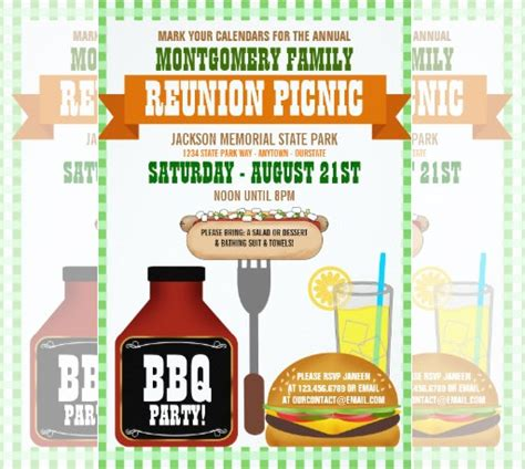 family reunion invitation templates psd vector eps