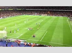 Barcelona 40 Espanyol 3rd goal view from gol nord 2