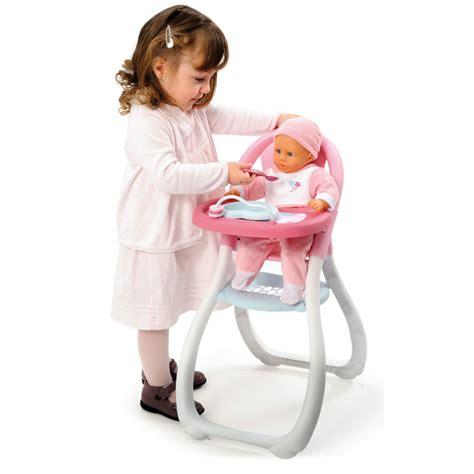 chaise haute pour poupée chaise haute baby pour poupées smoby accessoire