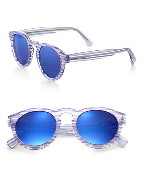 blue light glasses clear illesteva leonard clear mirrored sunglasses in blue light