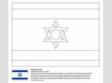 Coloriage Drapeau de l'Israël Coloriages à imprimer