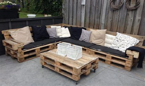 plan canapé bois comment fabriquer salon de jardin en palettes en bois