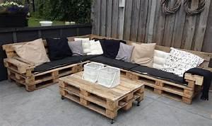 Canapé Jardin Pas Cher : canap jardin bois salon de jardin resine tressee gris pas ~ Premium-room.com Idées de Décoration