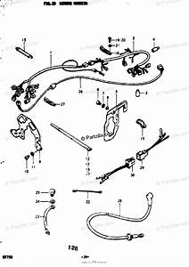 Suzuki Motorcycle 1976 Oem Parts Diagram For Wiring Harness