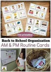Preschool Chore Chart Back To School Routines Free Printable Cards To Make It