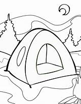 Tent Colouring Coloring Camping Pages Sheet sketch template