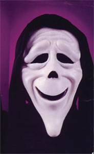 Adult size rubber Scary Movie mask: American Carnival Mart