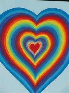 plain guest book rainbow heart