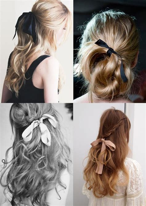 how to style your hair up how to wear bows and ribbons in your hair plus tutorials 1549