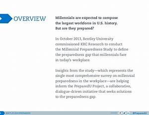 Bentley University's PreparedU Project: Millennials in the ...
