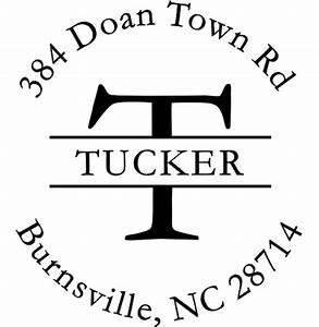 letter return address stamp round design simply stamps With round letter address stamp