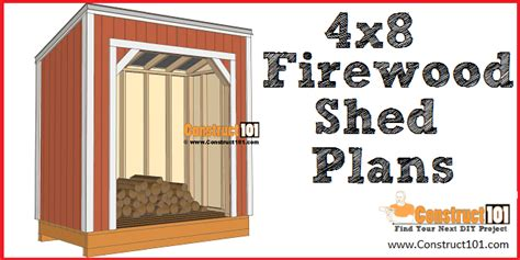firewood shed plans  firewood storage construct