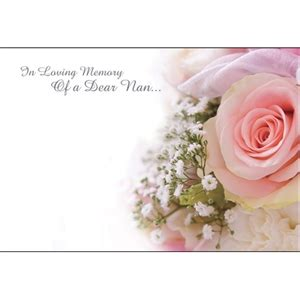 template card for funeral flowers in loving memory nan card discount floral sundries