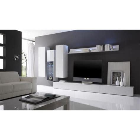 meuble haut cuisine noir laqué ensemble salon moderne laqué blanc quot gladys quot composition n 4 meuble house achat vente