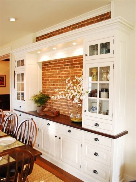 built in hutches for dining rooms   Traditional Dining