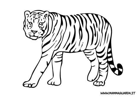 tigre da disegnare per bambini animali tigri az colorare