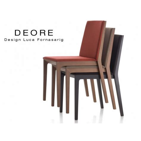 chaise en bois design chaise design bois deore piétement peint noir assise et