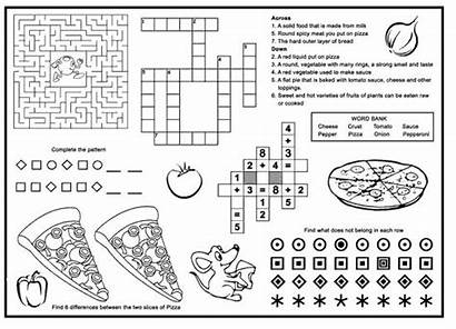 Menu Placemats Pizza Activity Restaurant Menus Restaurants