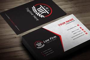 Attorney business card template modern blank for Lawyer business card templates
