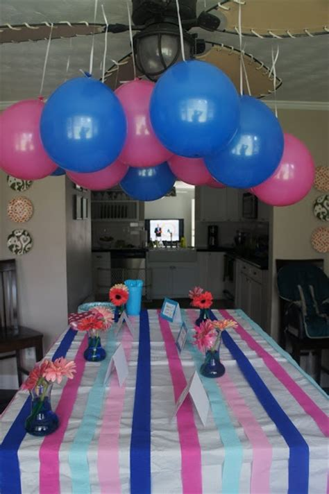 And Blue Birthday Decorations - gender reveal decorate with pink and blue