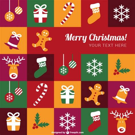 colorful merry christmas template vector free download