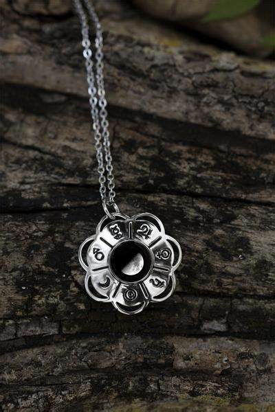 lunar blossom necklace moonglow