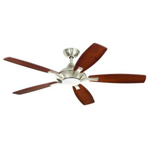 home elegance ceiling fan 52 home decorators collection petersford 52 in led brushed