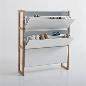 meuble range chaussures 3 abattants compo la redoute With meuble de rangement chaussures design