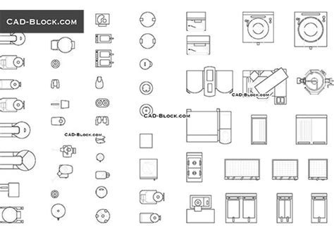 Appliances CAD Blocks free download