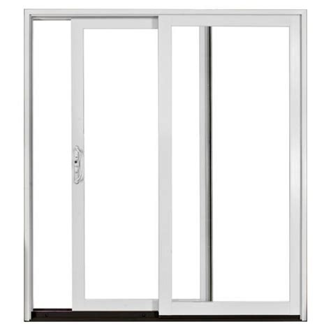 jeld wen white aluminum clad 6 ft left patio door low e