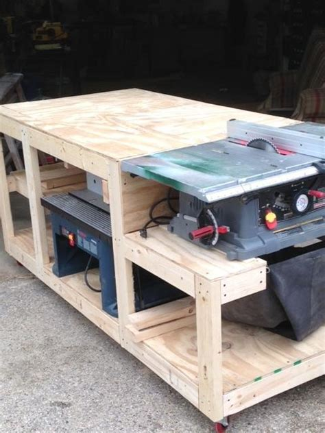 table saw workbench woodworking plans work bench woodworking creation by boone 39 s woodshed