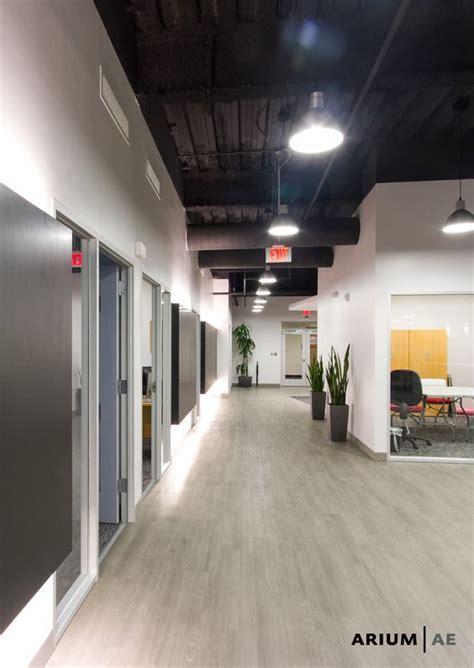 corridor   office space  black laminate accent