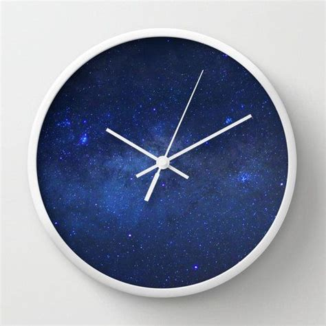 Space Wall Clock Milky Way Galaxy Stars Night Sky Geek