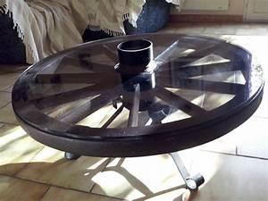 Roue Table Basse : charrette roue clasf ~ Teatrodelosmanantiales.com Idées de Décoration