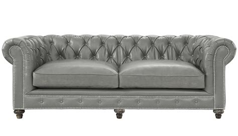 grey leather chesterfield sofa tov furniture modern durango rustic grey leather sofa tov