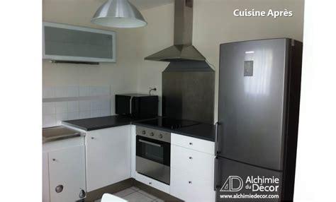 cuisine frigo cuisine moderne fonctionnelle frigo hotte apres alchimie