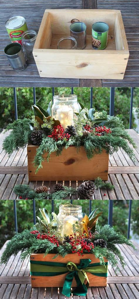 easy to make christmas table decorations diy christmas table decorations easy centerpiece in 10 minutes a piece of rainbow