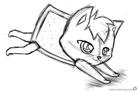nyan cat coloring pages sketch  alinacat  printable coloring pages
