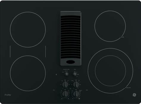 ge ppdjbb   smoothtop electric cooktop   burners  speed downdraft exhaust