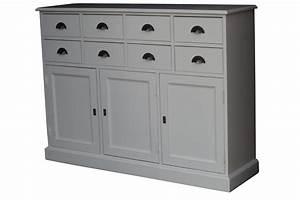 Meuble Bas Entrée : buffet bas en bois 8 tiroirs ~ Edinachiropracticcenter.com Idées de Décoration