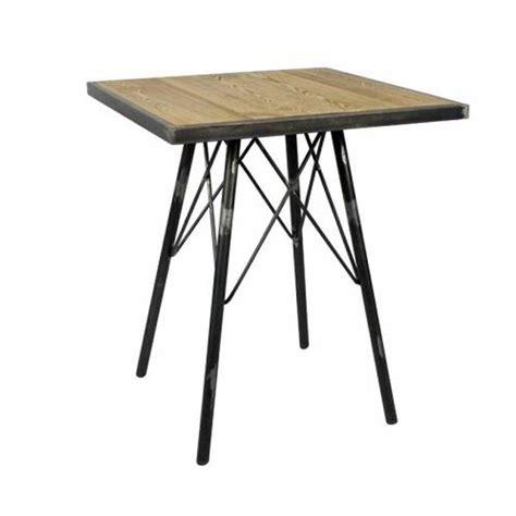 table 60x60 cuisine table 60x60 cm hauteur 75 cm en bois orme massif structure