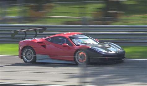 Ferrari 488 Challenge Car Spied On Track
