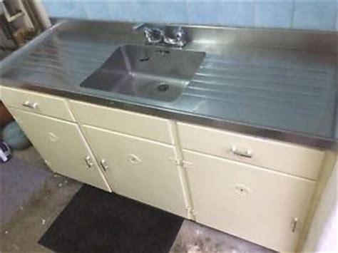 kitchen sink 1950s 1950 s vintage kitchen sink unit with stainless steel top