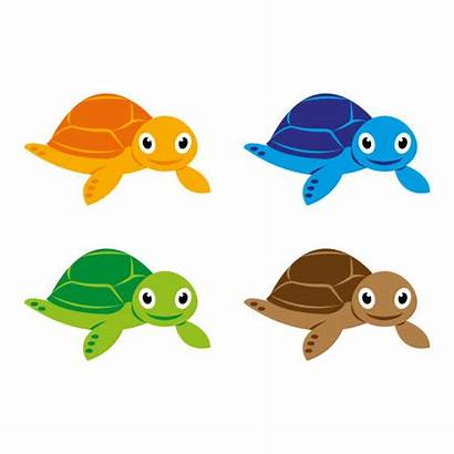 Turtle Sea Vector Clip Illustrations Clipart Cartoon