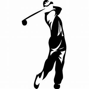 Stickers sport et football Sticker Silhouette golfeur Ambiance sticker