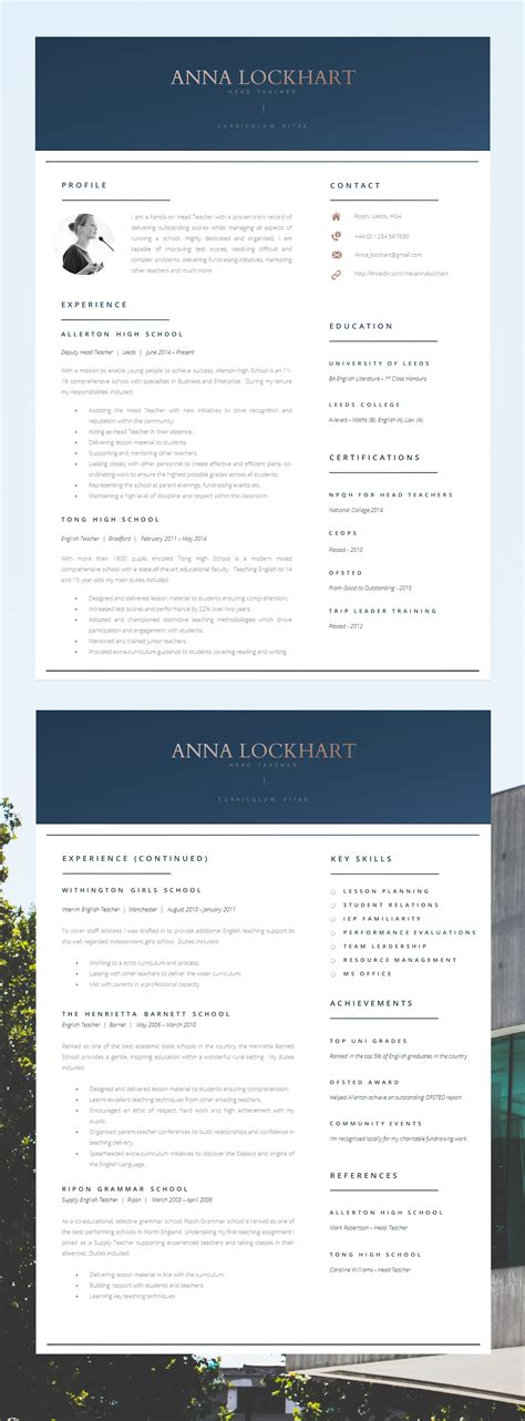 17175 contemporary resume template 10 modern resume